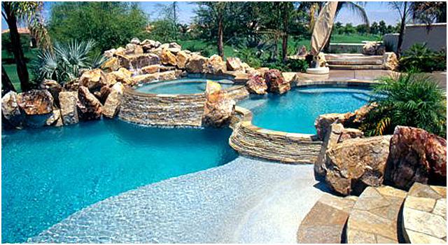Aqualux pools gardens spas for Piscinas tipo alberca